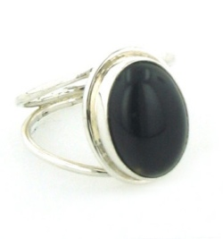 Black Onyx Rings - Silver Gemstone Rings