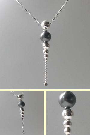 Sterling Silver Ball Pendant Necklace