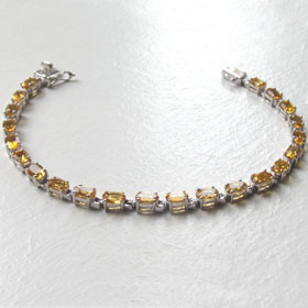 Citrine and Sterling Silver Bracelet Demi