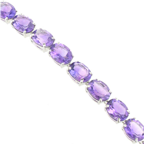 Amethyst Bracelet Fifi set in Sterling Silver