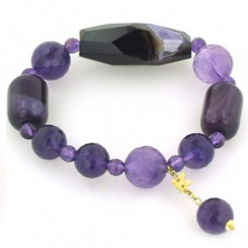 Agate and Amethyst Bracelet Candice