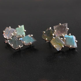 Labradorite Earrings - Boothandbooth.co.uk