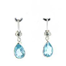Blue Topaz Earrings Hannah