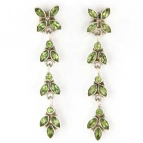 Peridot Earrings Zena