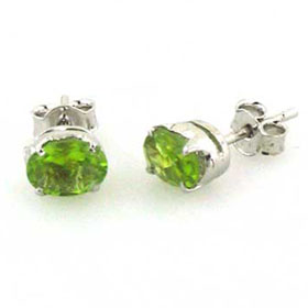 Peridot Stud Earrings Katya