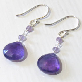 Amethyst Droplet Earrings Irene