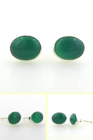 Green Onyx Stud Earrings Nadine