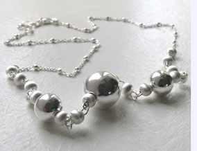 Silver Ball Necklace - Sterling Silver Chains