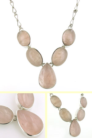 Rose Quartz Necklace Bella