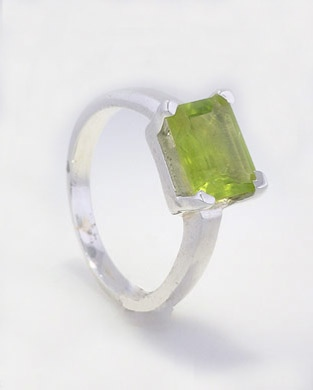 Peridot Ring - Silver Gemstone Rings