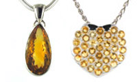 Citrine Pendants set in Sterling Silver