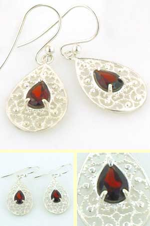 Garnet Earrings Rebecca