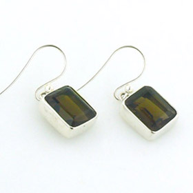Smokey Quartz Droplet Earrings Samantha