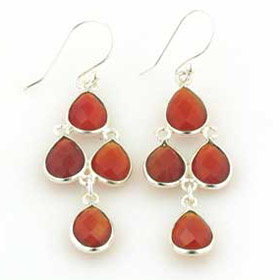 Red Onyx Waterfall Earrings Fay