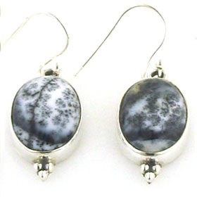 Dendritic Agate Earrings Adelia
