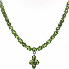 Peridot Pendant Necklace Judy