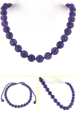 Amethyst Bead Necklace Joanna