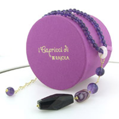 Amethyst and Agate Necklace Lara