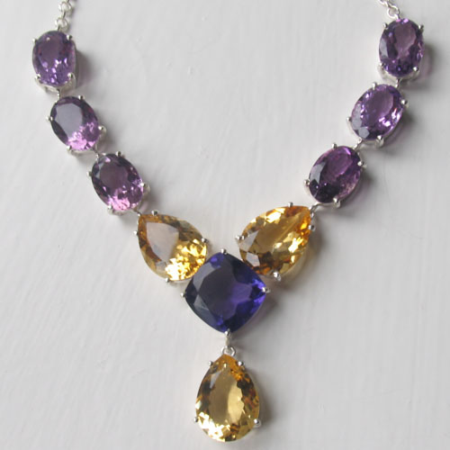67210b6999d0b Amethyst and Citrine Necklace Ruth