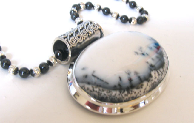 Dendritic Agate Pendant | Gemstone Pendants