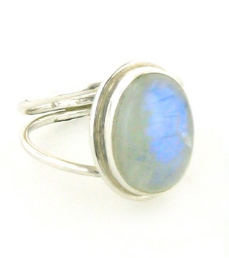 Rainbow Moonstone Ring - BoothandBooth