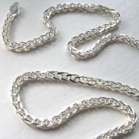 Sterling Silver Wheat Chain - 4mm