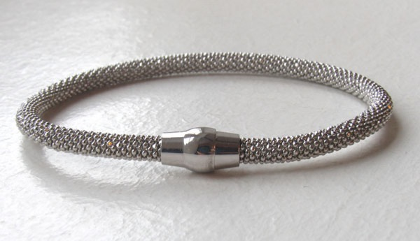 Sterling Silver Popcorn Bangle - 5mm