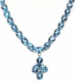 Swiss BLue Topaz Necklace - Gemstone Jewellery