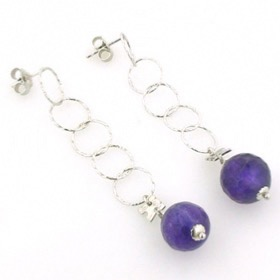 Amethyst Dangle Earrings Zelda