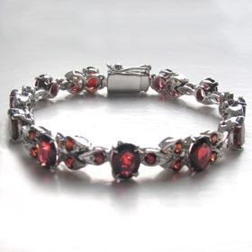 9c4836ab492 Garnet Bracelet Layla Garnet bracelet in sterling silver ...