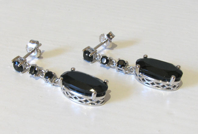 Black Spinel Earrings Julie