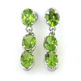 Peridot Earrings Uma