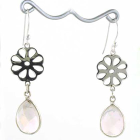 Rose Quartz Earrings Evie