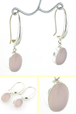 Rose Quartz Earrings Serena