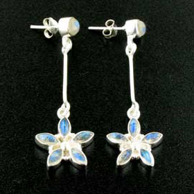 Rainbow Moonstone Earrings Stella