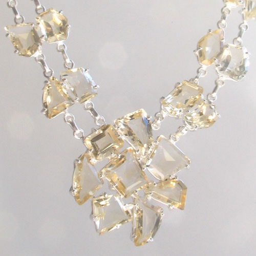 Citrine Pendant Necklace Helena