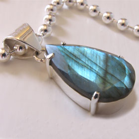 Faceted Labradorite Pendant Dawn
