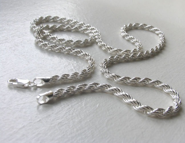 Sterling Silver Rope Chain - 4mm