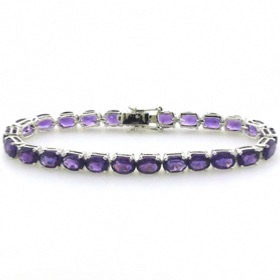 Amethyst Bracelet Poppy set in Sterling Silver