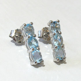 Blue Topaz Earrings Claire