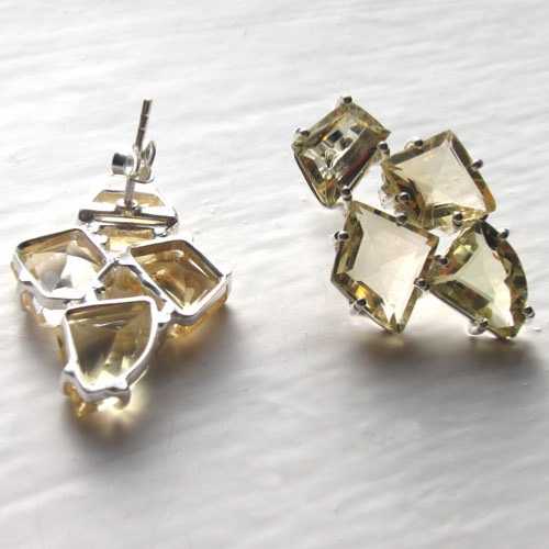 Citrine Cluster Earrings Amelie