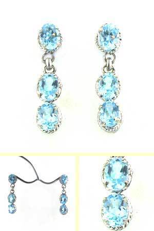 Blue Topaz Earrings Uma