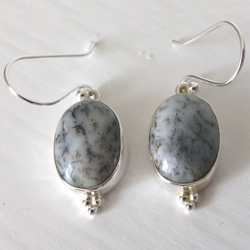 Dendritic Agate Earrings Simone