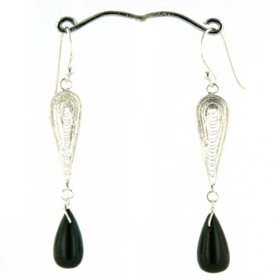 Black Onyx Drop Earrings Pamela