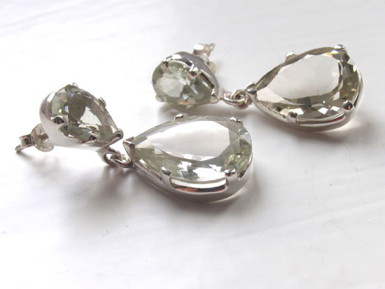 Green Amethyst Earrings Melissa