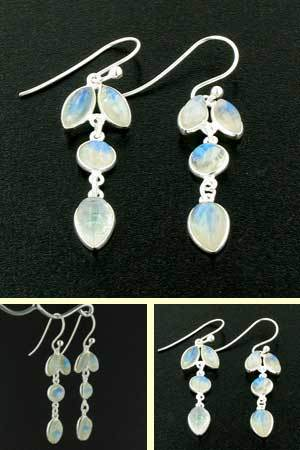 Rainbow Moonstone Earrings Jess