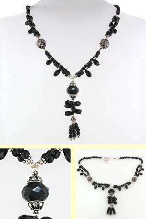Black Onyx Pendant Necklace Kathleen