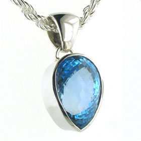 32 Carat Swiss Blue Topaz Pendant Hetty