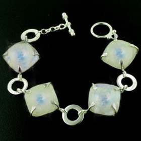 Faceted Rainbow Moonstone Bracelet Jolene