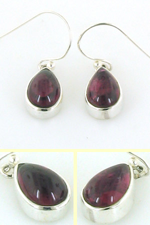 Cerise Pink Tourmaline Earrings Agatha
